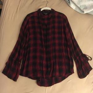 Express Soft Flannel Button-down Shirt